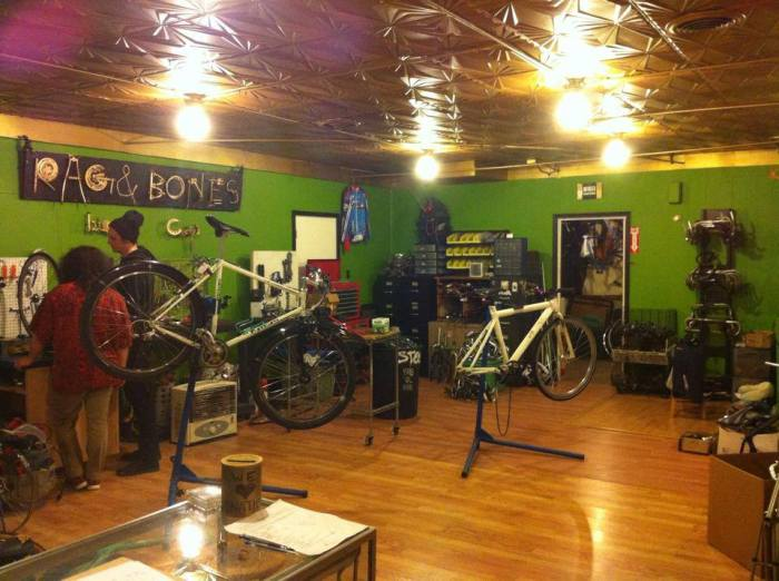 We provide community space, tools and knowledge on how to work on bicycles.